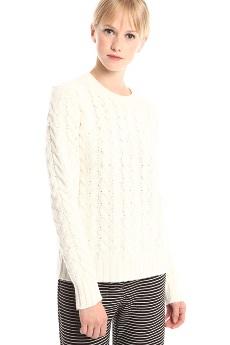 Braided knit sweater Diffusione Tessile
