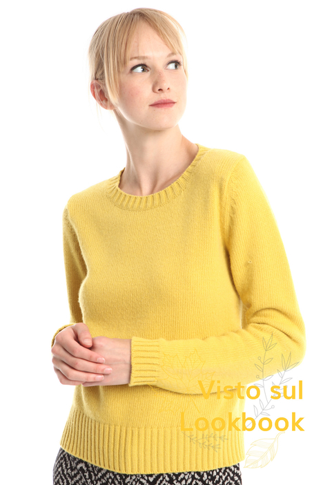 Boxy wool and viscose sweater Diffusione Tessile