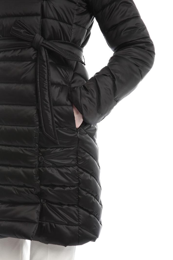 Padded coat with fur trim Diffusione Tessile