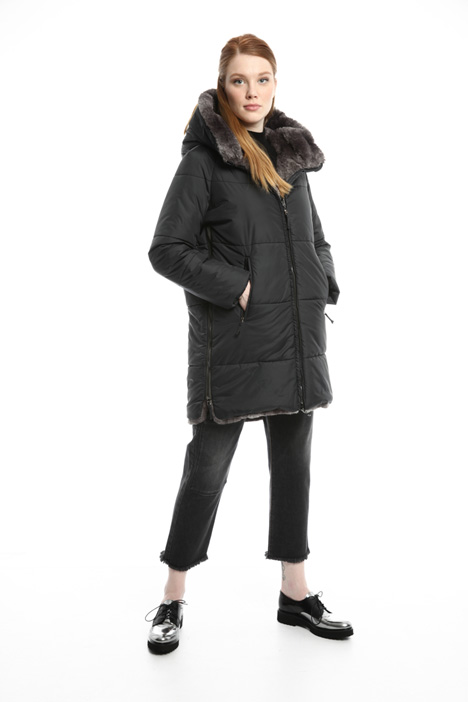 Lined coat with zip Diffusione Tessile