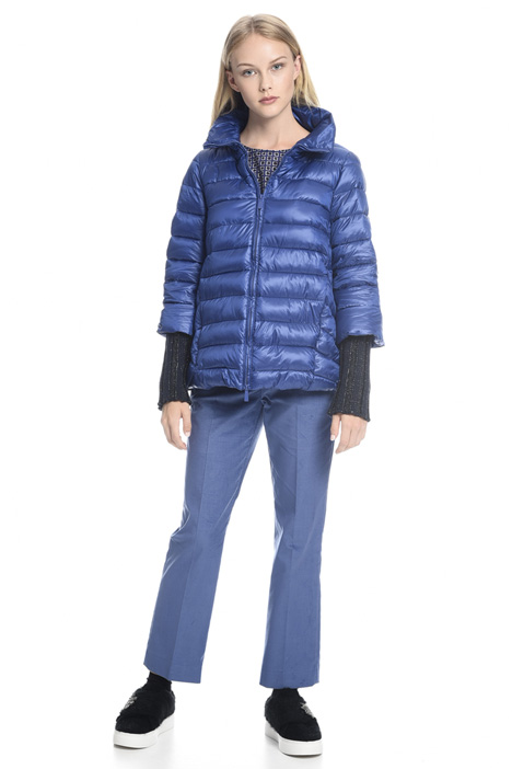 Padded coat with knit cuffs Diffusione Tessile