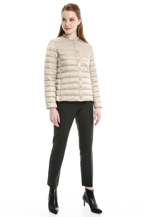 Satin-effect padded jacket Diffusione Tessile