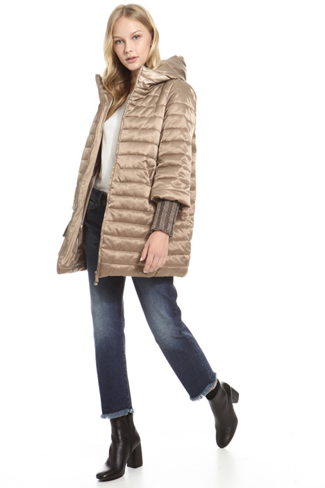 Knitted cuff padded coat Diffusione Tessile