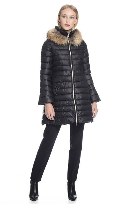 Flared quilted coat Diffusione Tessile