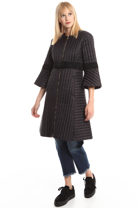 Quilted coat with stripes Diffusione Tessile