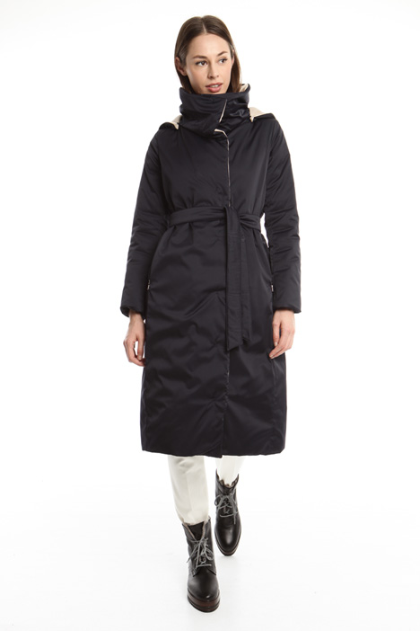 Long reversible padded coat Diffusione Tessile