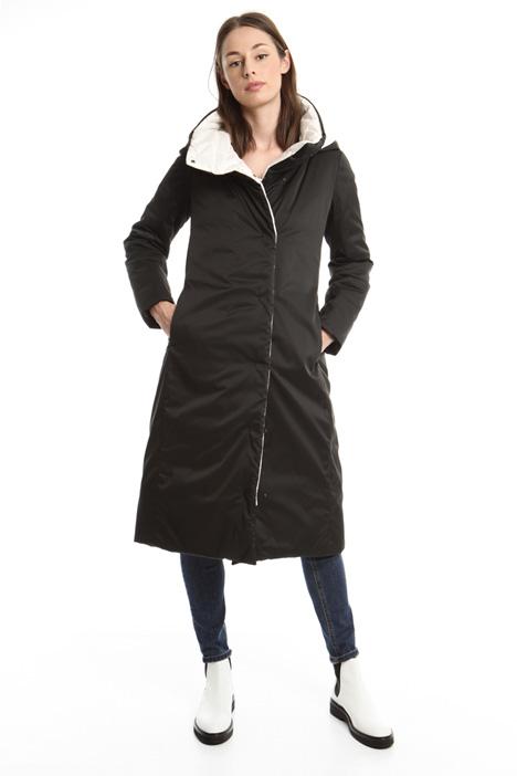 Long reversible padded coat Diffusione Tessile
