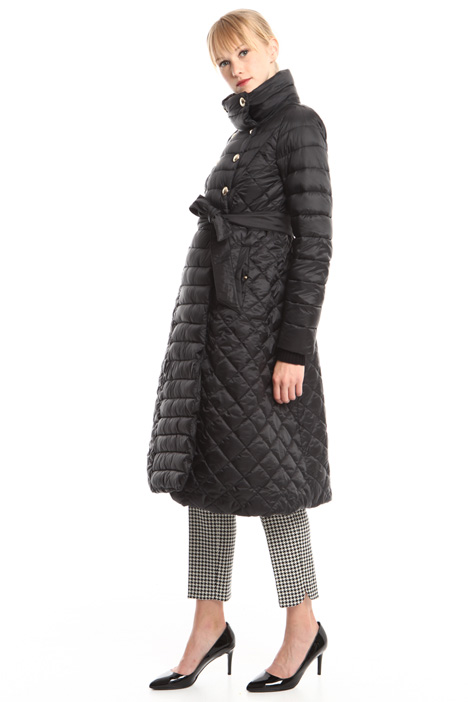 Long quilted coat Diffusione Tessile
