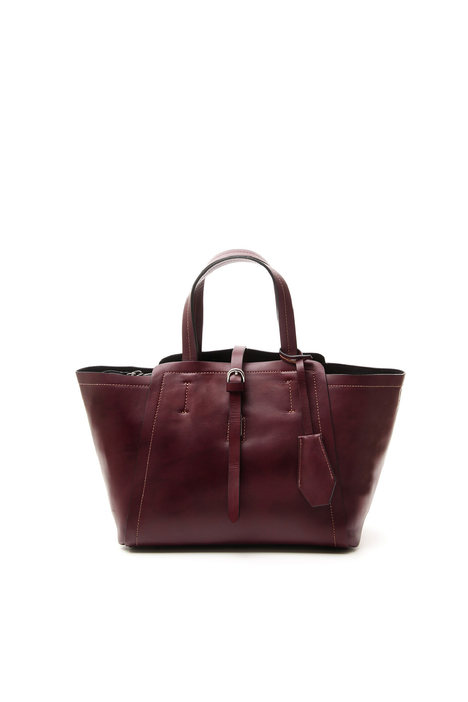 Small leather shopper bag Intrend