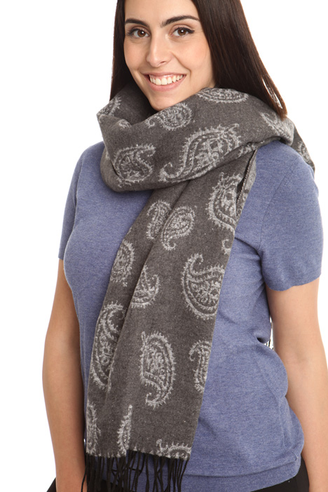 Fringed cotton scarf Intrend