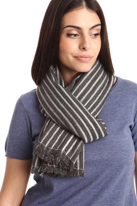 Lurex striped scarf Diffusione Tessile