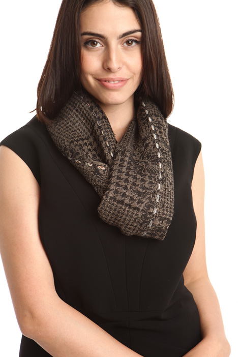Jacquard scarf in wool blend Intrend