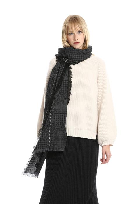 Sciarpa jacquard in misto lana Diffusione Tessile