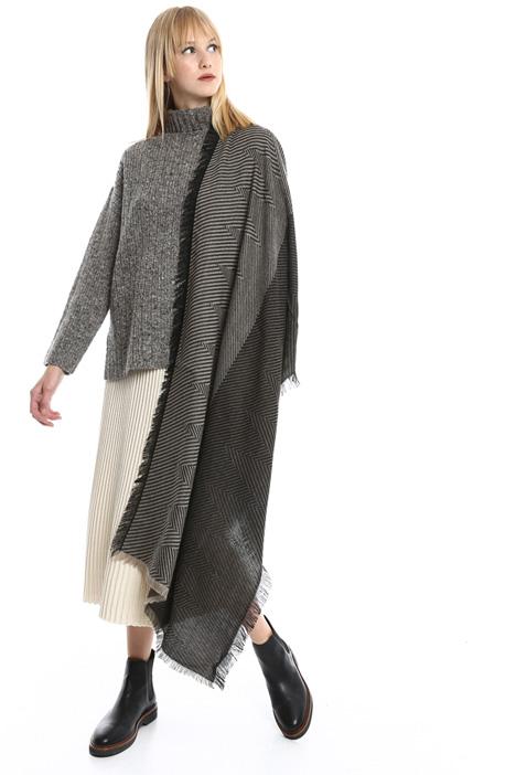 Sciarpa rigata in misto lana