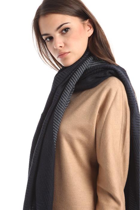 Sciarpa rigata in misto lana Diffusione Tessile