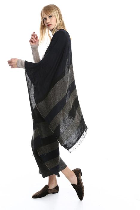 Sciarpa rigata in lana Diffusione Tessile