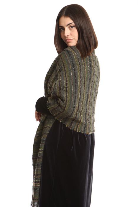 Sciarpa in lana bouclé lurex Diffusione Tessile