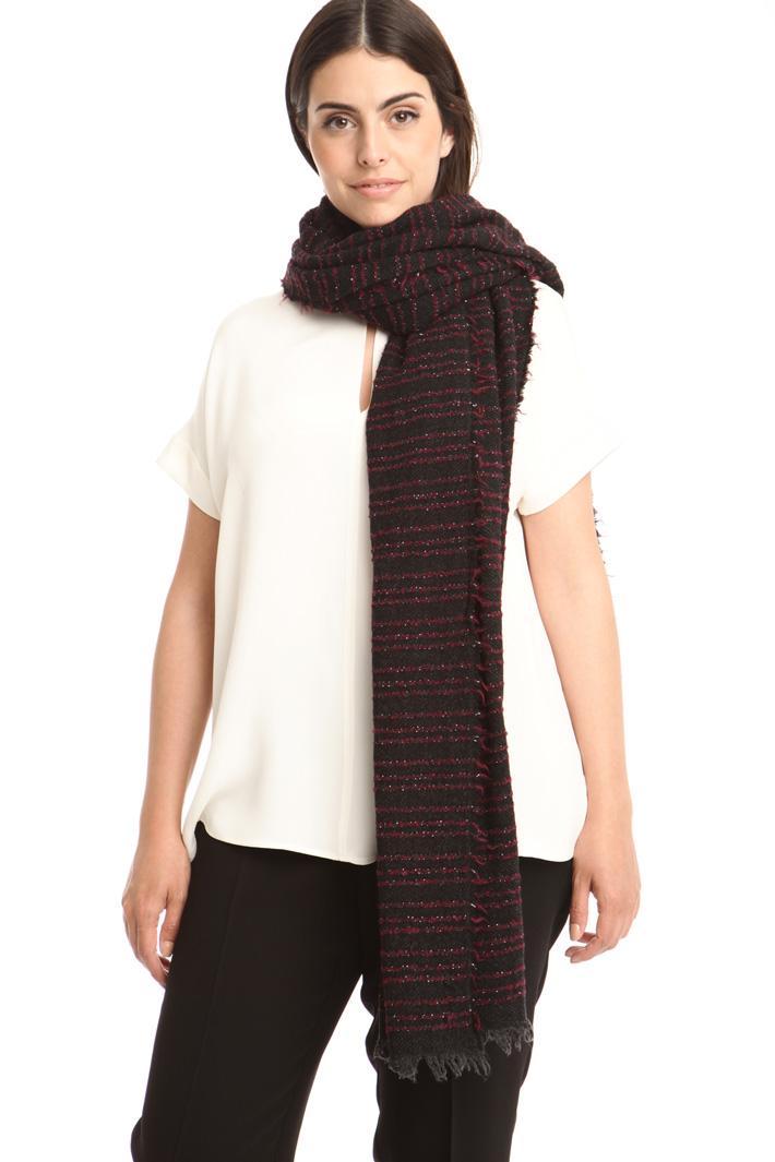 Sciarpa in lana bouclé Diffusione Tessile