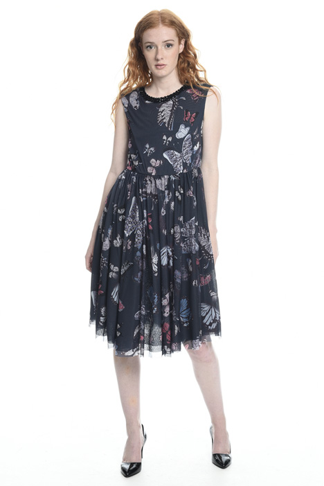 Tulle-effect jersey dress Diffusione Tessile