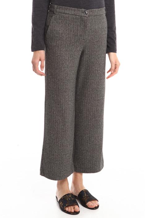 Pantaloni a righe in viscosa Diffusione Tessile