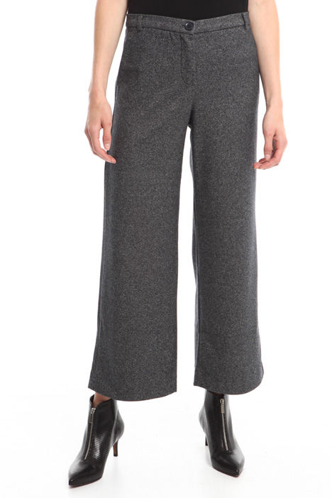Pantaloni cropped in viscosa Diffusione Tessile