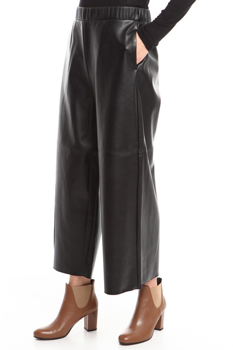 Cropped coated trousers Diffusione Tessile