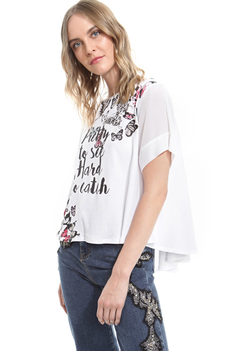 T-shirt boxy con stampa Diffusione Tessile
