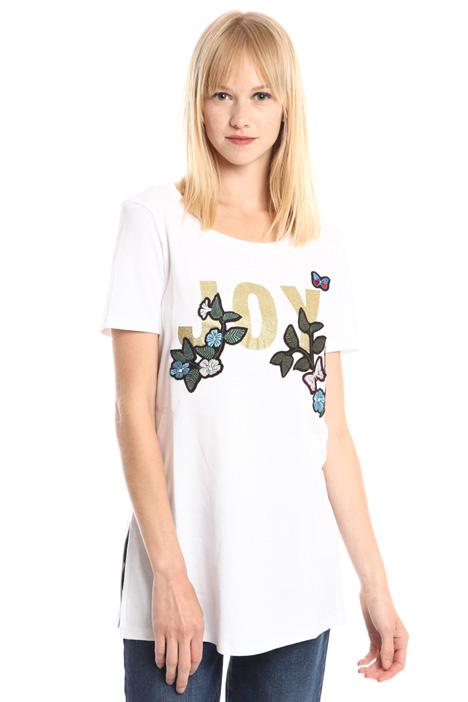 Glitter print T-shirt Diffusione Tessile