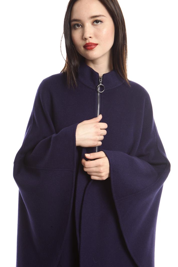 Mantello ampio in drap di lana Diffusione Tessile