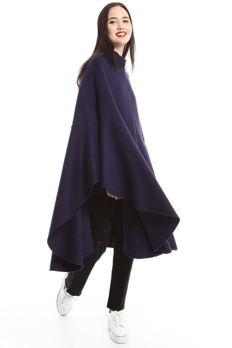Oversized wool drap cape Intrend