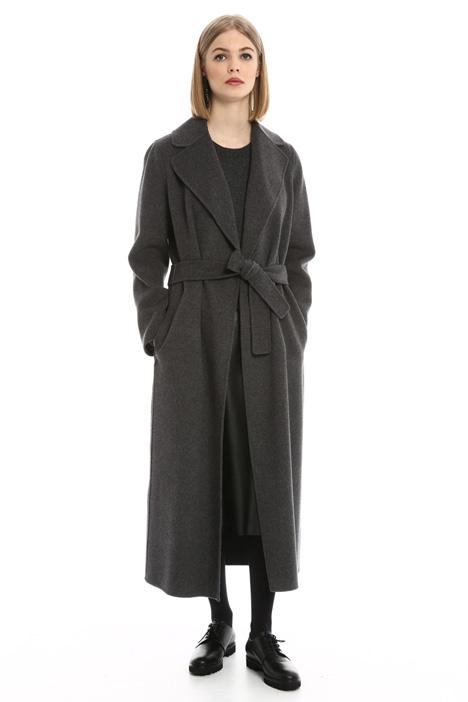 Cappotto lungo in drap doppio Intrend