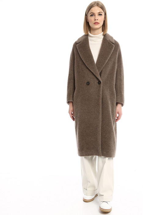 Wool brushed coat Diffusione Tessile