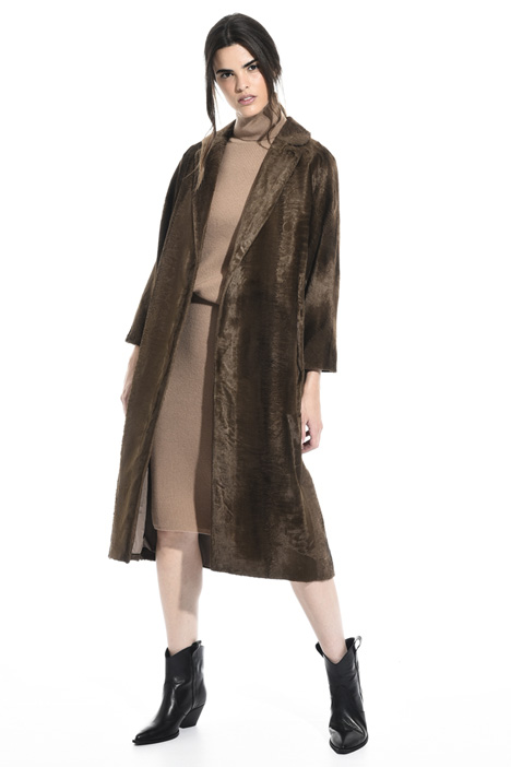Persian lamb effect coat Intrend