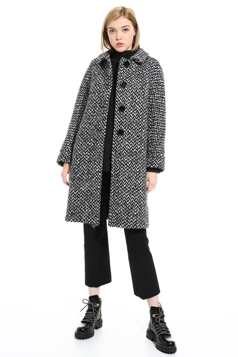 Wool and alpaca coat   Intrend