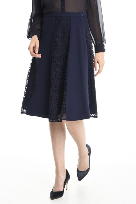 Lace and crepe skirt Diffusione Tessile