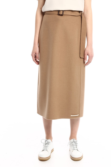 Double drap midi skirt Intrend