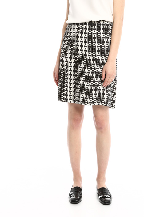 Geometric print skirt Diffusione Tessile