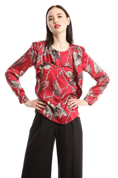 Flounced twill blouse Diffusione Tessile