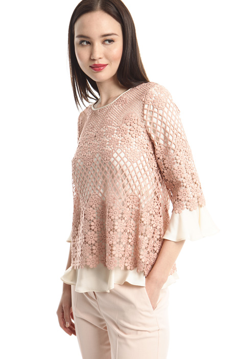 Lace and twill tunic Intrend