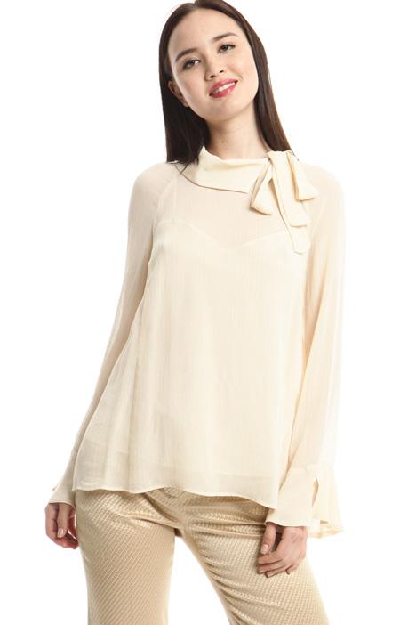 Lamé creponne blouse Diffusione Tessile