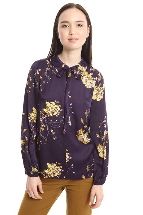 Viscose satin blouse Diffusione Tessile