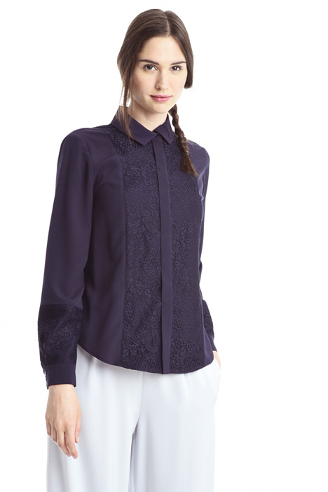 Lace and crepe shirt Diffusione Tessile