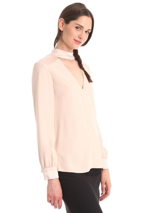 Crepe envers satin blouse Intrend
