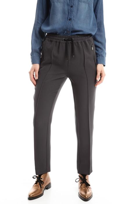 Pantaloni jogging in crepe Diffusione Tessile