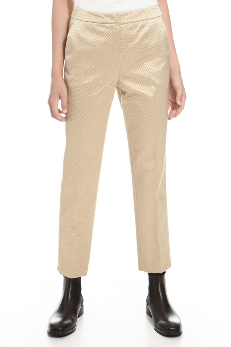 Trousers in textured fabric Diffusione Tessile
