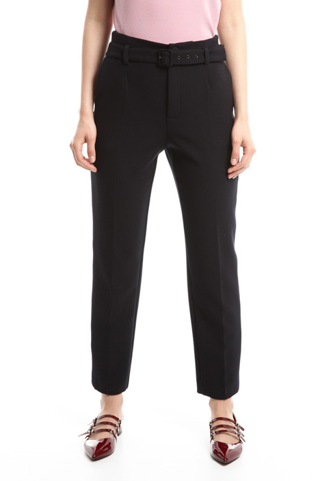Stretch sablé trousers Diffusione Tessile