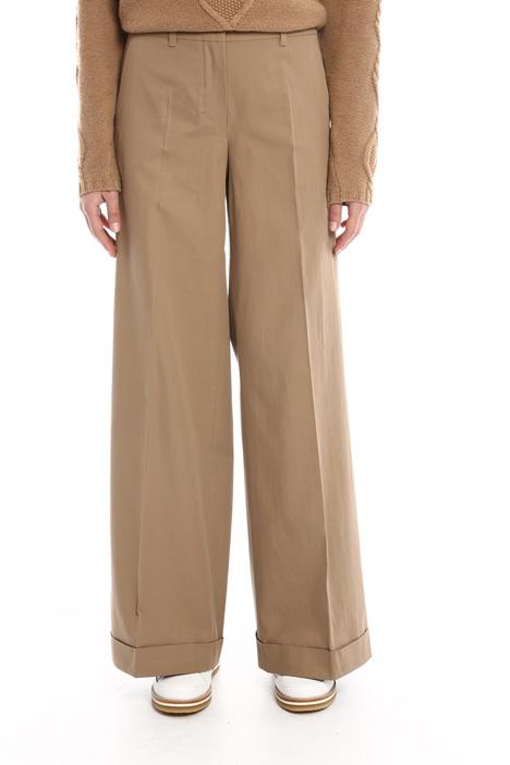 Pantaloni palazzo con risvolto Diffusione Tessile