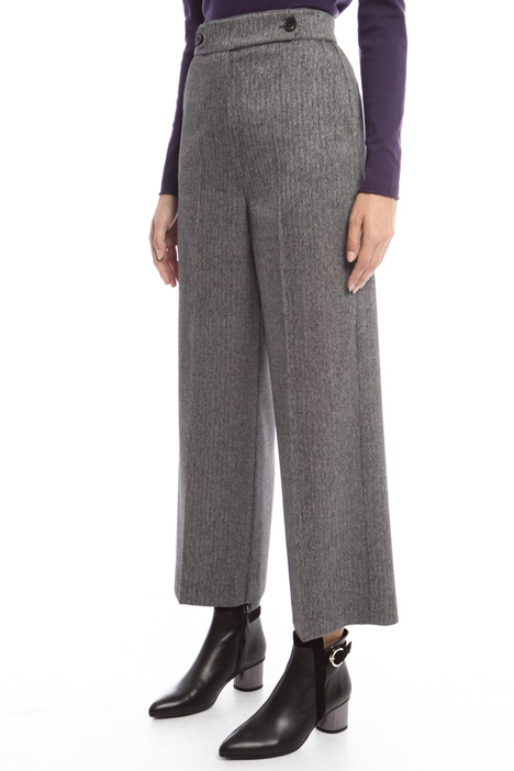 Pantalone cropped tinto filo Diffusione Tessile