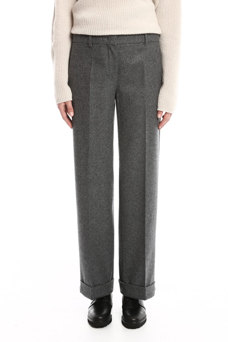 Lightweight felted trousers Diffusione Tessile