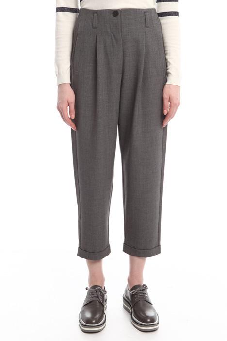 Pantaloni a carota in flanella Diffusione Tessile